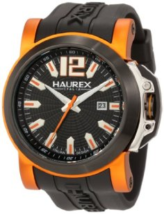 Haurex Italy Men's 1D370UNO San Marco Orange Aluminum Black Rubber Watch