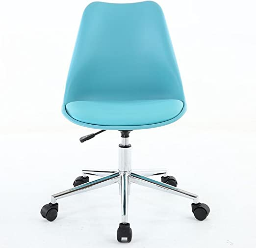 Amazon Com Yjxjjd Lifting Computer Chair Home Compact Office Chair Small Modern Small Swivel Chair Simple Student Chair Desk Chair Color Blue Kitchen Dining
