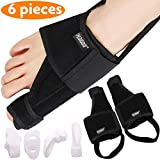 Bunion Corrector Bunion Relief Kit (Bunion Splints, Gel Toe Protect Separator Sleeves&Toe Separators) for Hallux Valgus -Day/Night Support for Men&Women