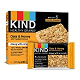 Kind Healthy Grains Bars, Oats & Honey with Toasted Coconut, 1.2 oz (Pack of 5)