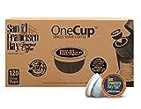 San Francisco Bay OneCup Espresso Roast (120 Count) Single Serve Coffee Compatible with Keurig K-cup Brewers Single Serve Coffee Pods, Compatible with Keurig, Cuisinart, Bunn Single Serve Brewers