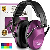 Earmuffs for Kids Toddlers Children - Hearing Protection Ear Defenders for Small Adults Women - Foldable Design Ear Defenders Adjustable Padded Headband Noise Reduction (Purple Power)