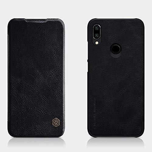 Nillkin Case for Xiaomi Redmi Note 7 Qin Genuine Classic Leather Flip Folio PC with Card Slot Black Color 1