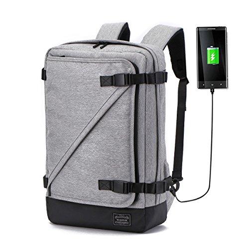 KHDZ Laptop Briefcase Backpack 3 Way Convertible Shoulder Messenger Bag Business Backpack 15.6 Inch for Student, Professional, College, Work