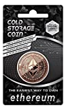 Copper Plated Cold Storage Ethereum Coin Wallet to Store & Redeem Bitcoins, Use Laser Technique to Deeply Etch Wallet ID & Private Key in form of QR Code on Surface of Bitcoins, Safe from Fire & Flood
