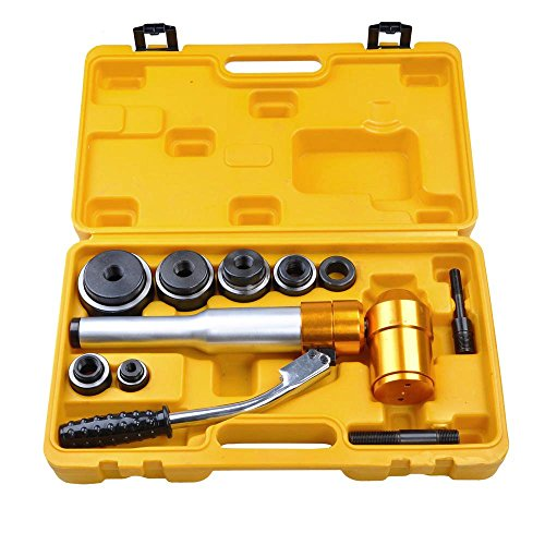 Yescom 6 Ton Hydraulic Knockout Punch Driver Kit 6 Dies Hole Punch Knockout...
