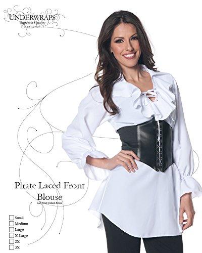 Underwraps-Womens-Plus-Size-Pirate-Laced-Front-Blouse