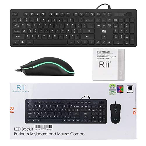 Rii-RGB-Backlit-Business-KeyboardGaming-Keyboard-and-Mouse-ComboUSB-Wired-KeyboardRGB-Optical-Mouse-for-GamingBusiness-Office