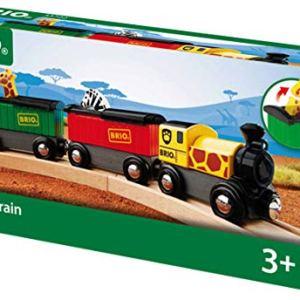 BRIO World – 33722 Safari Train | 3 Piece Toy Train Accessory for Kids Age 3 and Up 51NZofCujTL