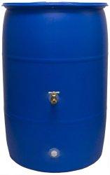Good Ideas RB55-BLUE Big Blue Recycled Rain Barrel