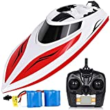 INTEY Remote Control Boats - Easy to Use for Kids & Adult, Run Fast in H102 20+ mph for Pool & Lakes, Speed Boat with 4 Channel & Capsize Recovery, Red