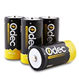 Odec C Rechargeable Batteries, Deep Cycle 5000mAh NiMH Battery Pack LR14/Baby C (4 Pack)