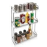 MyGift 3-Tier Stainless Steel Kitchen Countertop Multipurpose Storage Rack/Bathroom Organizer Shelf Stand