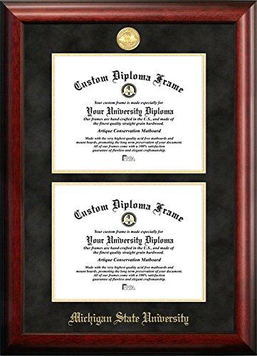 Michigan State University Double Diploma Frame | Framesite.blog