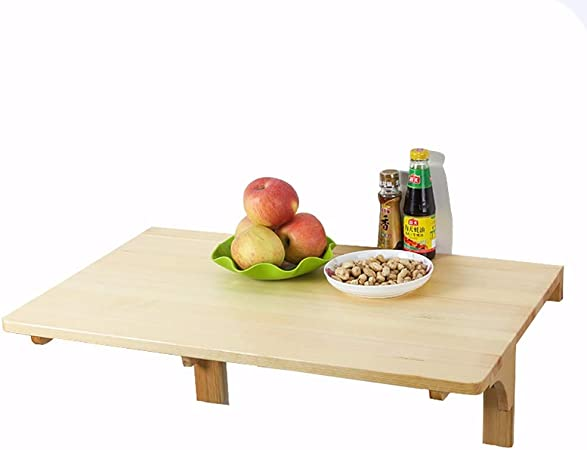 Giow Natural Pine Portable Dining Tables Use For Narrow Space Or Bedroom Size Optional Size 60 40cm Amazon Co Uk Kitchen Home