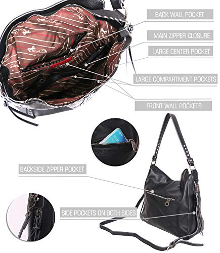 Hobo Bag Faux Leather With Crossbody Strap