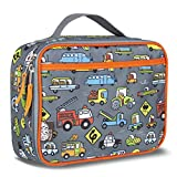 LONECONE Kids' Insulated Fabric Lunchbox - Cute Patterns for Boys and Girls, Fast Food (Cars), Regular