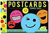 Peaceable Kingdom Funny Faces 12 Postcard Booklet