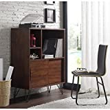 Product review for Storage Cabinet and Bookcases   Retro Clifford Media Bookshelf Console