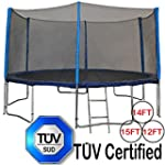 Zupapa® 15 14 12 Ft TÜV Approved Trampoline with Enclosure net