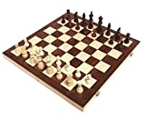 Chess Armory 15' Wooden Chess Set Felted Game Board Interior Storage