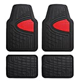 FH Group F11311RED Rubber Floor Mat(Heavy Duty Tall Channel, Red Full Set Trim to Fit)
