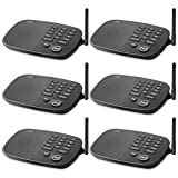 Wireless Intercom System Hosmart 1/2 Mile Long Range 10-Channel Security Wireless Intercom System for Home or Office[6 Units Black]