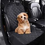 Big Bargains Online Dog Car Seat Cover for Front Seat of Cars/SUV; Waterproof Hammock with Mesh Window, Side Flaps, Belt Hook and Elastic Durable Nylon Dog Safety Belt