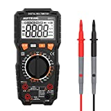 Digital Multimeter, Meterk 6000 Counts True RMS Multi Tester AC/DC Voltage Current Resistance Capacitance Frequency Temperature NCV Live Line Tester with LCD Flashlight