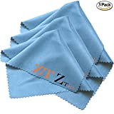 ZeeTech Microfiber Magic Cleaning Cloth for Lens, Eyeglasses, Glasses, Screen, iPad, iPhone, Tablet, Cell Phone, TV's, Camera Lenses - Lint Free Cleaner Cloths (3 Pack of Cloths)