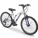 """24"""" Royce Union RTT Womens 21-Speed Mountain Bike, Aluminum Frame, Trigger Shift, White"""
