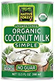 Native Forest Simple Organic Unsweetened Coconut Milk, 13.5 Fl Oz (Pack of 12)