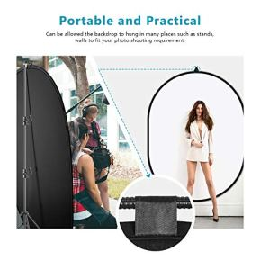 Neewer-5x7-Chromakey-Black-White-2-in-1-Double-Sided-Pop-Up-Collapsible-Backdrop-with-Support-Stand-Foldable-Panel-for-Photo-and-Video-Shooting-Live-Streaming-etc