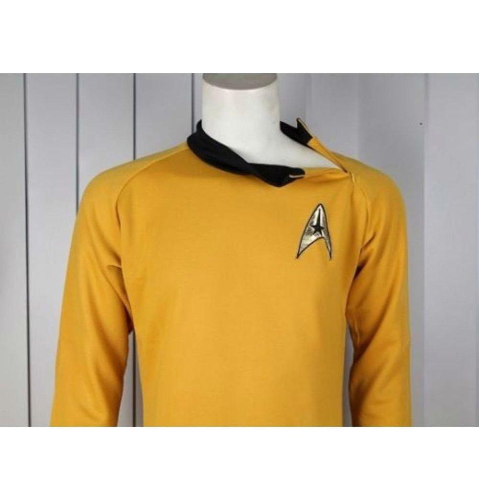 original star trek costumes for adults - Star Trek Captain Kirk CLASSIC Gold Shirt TOS