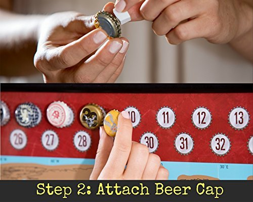 Beer cap map around the world in 80 beers scratch off craft beer beer cap map gumiabroncs Image collections