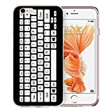 iPhone 6 Case, iPhone 6S Case Clear, Doramifer Modish Series Protective Case [Anti-Slip] [Good Grip] with Aesthetic 3D Print Soft Back Cover for 4.7 inch iPhone 6/6S (Keyboard)