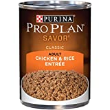 Purina Pro Plan Wet Dog Food, Savor, Adult Chicken & Rice Entre Classic, 13-Ounce Can, Pack of 12