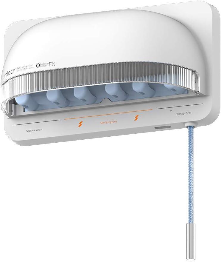Oclean S1 Smart UVC Stérilisateur de Brosse à Dents Mural Support pour Stériliser Les Brosses à Dents Désinfection Rechargeable sans Fil