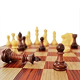 KIDAMI Folding Magnetic Travel Chess Set, Lightweight, with Portable Cute Storage Bags for Easy Carry, 12.4 x 10.6 x 0.8 Inch