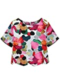 SheIn Women's Casual Calico Print Crop Blouse X-Large Multicolor