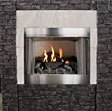 Empire Outdoor Premium 36 Traditional IP Fireplace with Log Set, NG