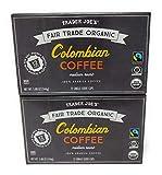 Trader Joe's Organic Columbian Coffee 12 single serve cups (Pack of 2)
