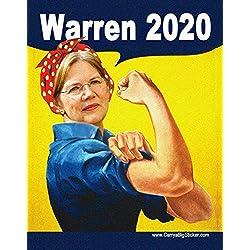 Elizabeth Warren 2020 Rosie the Riveter Magnetic Bumper Sticker (Poster Style)