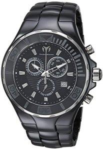 Technomarine Men's Cruise Quartz Watch with Ceramic Strap, Black, 23 (Model: TM-115318)