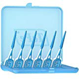 TEPE EasyPicks Dental Pick with Case – 36 Disposable Floss Brush Teeth Picks M/L
