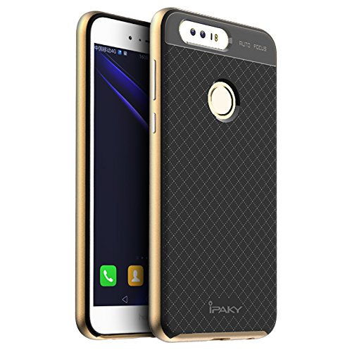 51ODA 0QWwL - Case Creation Hybrid Ultra Thin Shockproof Back Bumper Cover for Huawei Honor 8 4GB Android 6.0 4G LTE 5.2 Inch (Champaine Gold)