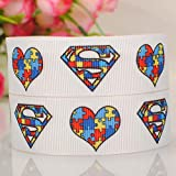 "10 Yards1"" Inch 25mm Hero style Superman Cartoon Printed Gift Grosgrain Ribbon"