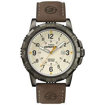 Timex Expedition Men's Quartz Watch Analogue Dial with a Brown Leather Strap Watch T49990