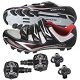 Venzo Mountain Bike Bicycle Cycling Shimano SPD Shoes + Pedals & Cleats 44.5