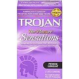 Trojan Her Pleasure Sensations Lubricated Condoms, 12ct